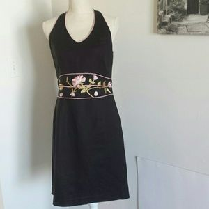 Jessica Howard embroidered linen dress size 8